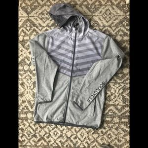Soulcycle men gray hoodie sweater top size small